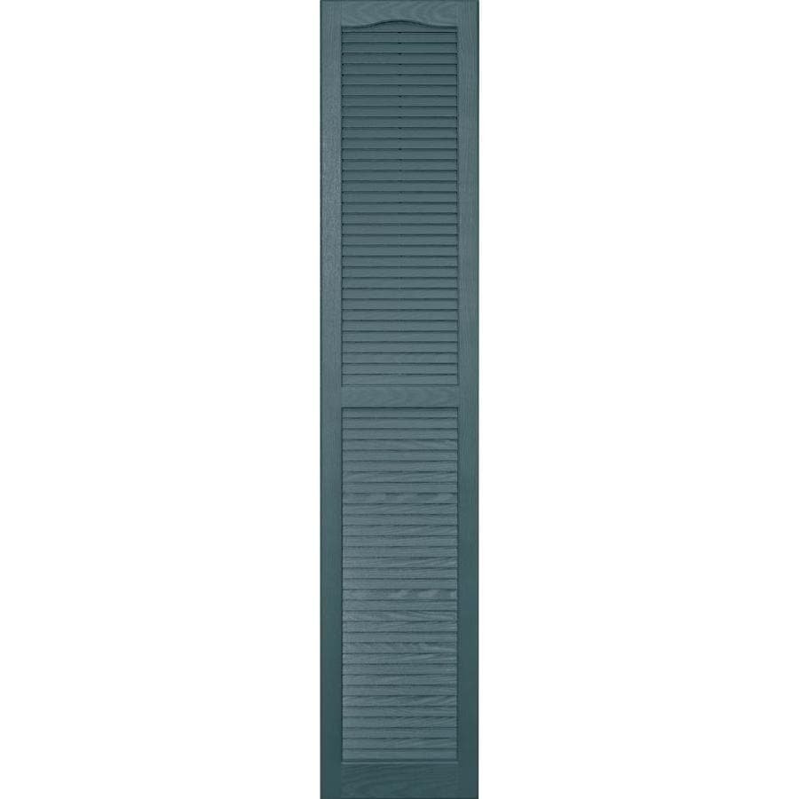 Vantage 2-Pack Wedgewood Blue Louvered Vinyl Exterior Shutters (Common: 14-in x 75-in; Actual: 13.875-in x 74.5-in)