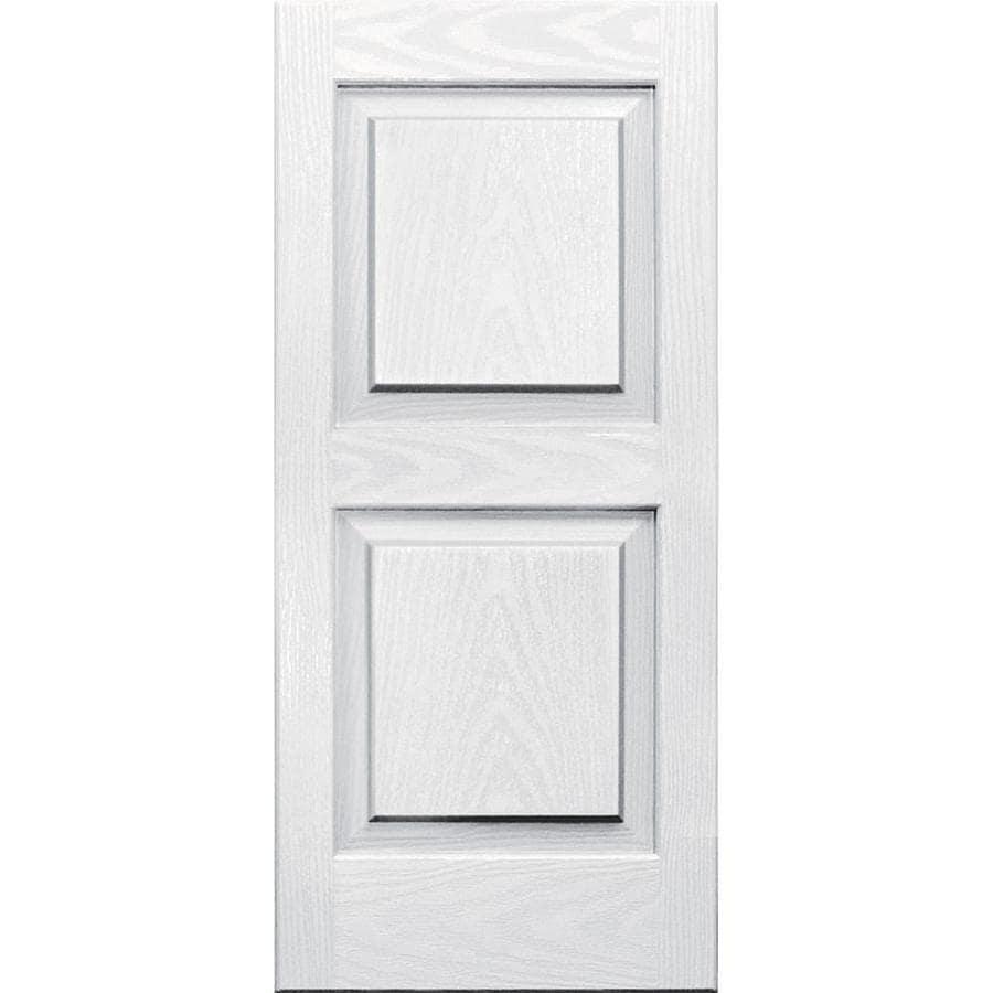 Shop Vantage 2-Pack White Raised Panel Vinyl Exterior Shutters ...
