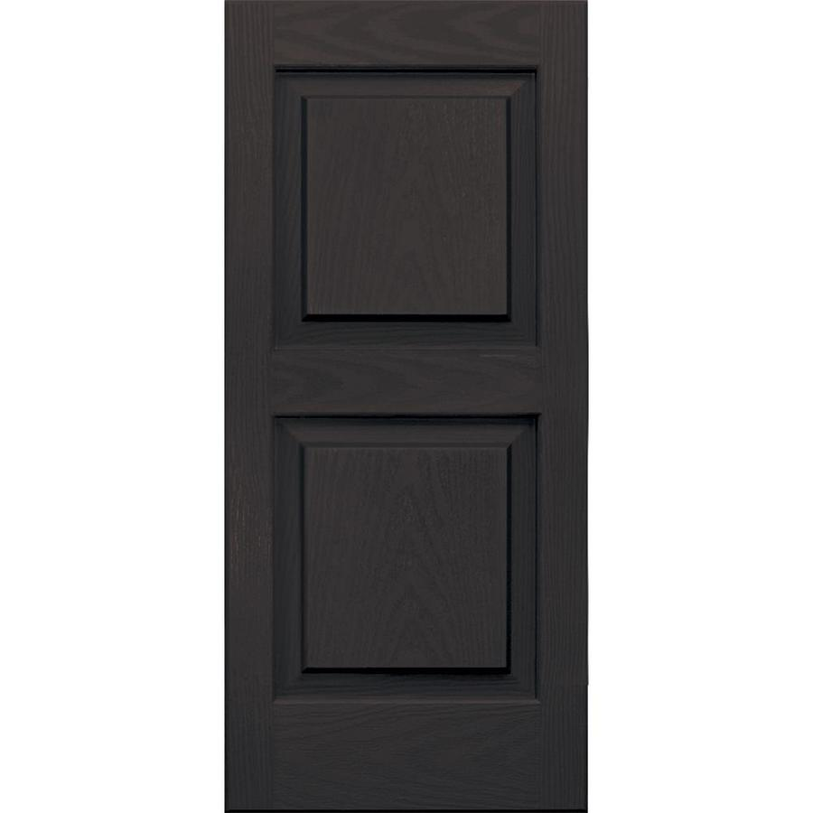 Vantage 2-Pack Chocolate Brown Raised Panel Vinyl Exterior Shutters (Common: 14-in x 31-in; Actual: 13.875-in x 30.625-in)
