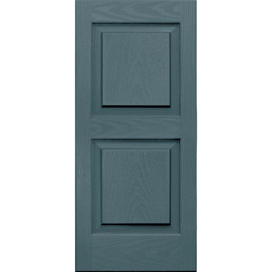 Vantage 2-Pack Wedgewood Blue Raised Panel Vinyl Exterior Shutters (Common: 14-in x 31-in; Actual: 13.875-in x 30.625-in)
