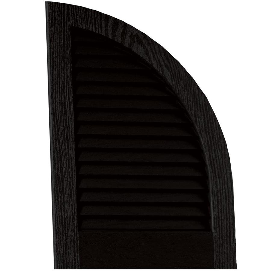Vantage 2 pack black louvered vinyl exterior shutters - Paintable louvered vinyl exterior shutters ...