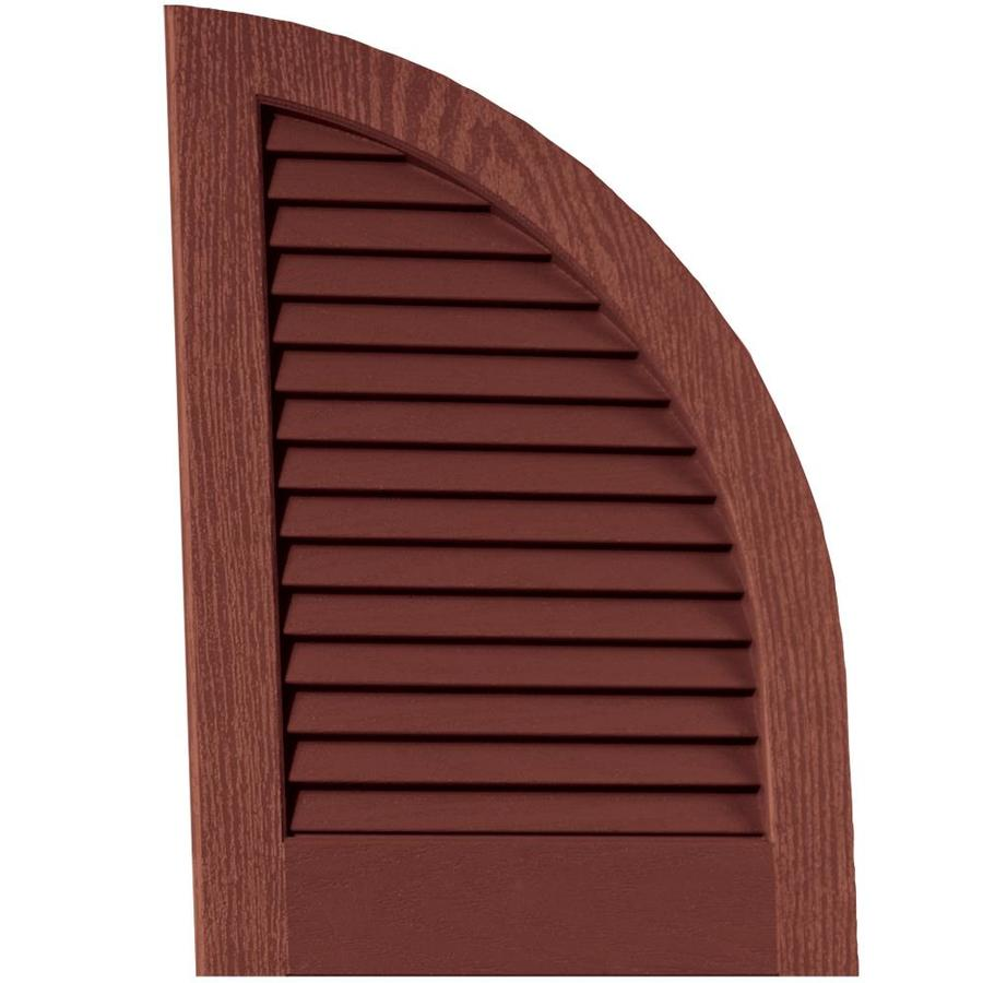 Vantage 2-Pack Cambridge Red Louvered Vinyl Exterior Shutters (Common: 14-in x 20-in; Actual: 13.875-in x 20.0625-in)