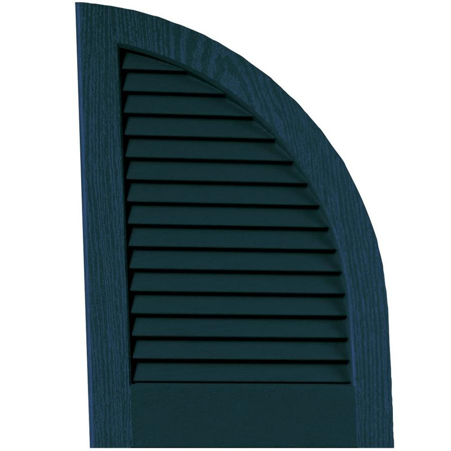 Vantage 2-Pack Indigo Blue Louvered Vinyl Exterior Shutters (Common: 14-in x 20-in; Actual: 13.875-in x 20.0625-in)