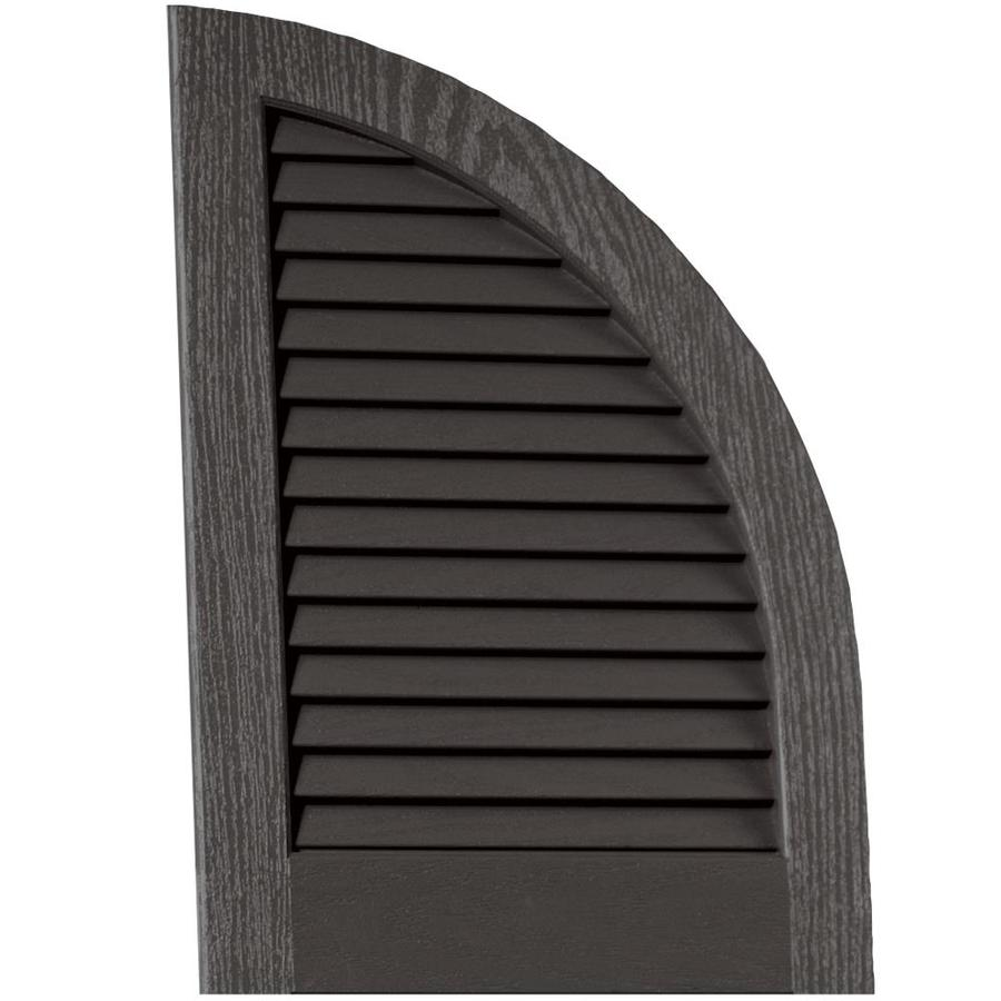 Vantage 2-Pack Charcoal Grey Louvered Vinyl Exterior Shutters (Common: 14-in x 20-in; Actual: 13.875-in x 20.0625-in)