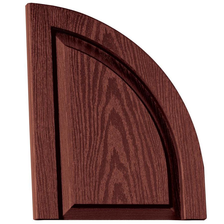Vantage 2-Pack Cambridge Red Raised Panel Vinyl Exterior Shutters (Common: 14-in x 17-in; Actual: 13.875-in x 17.3125-in)