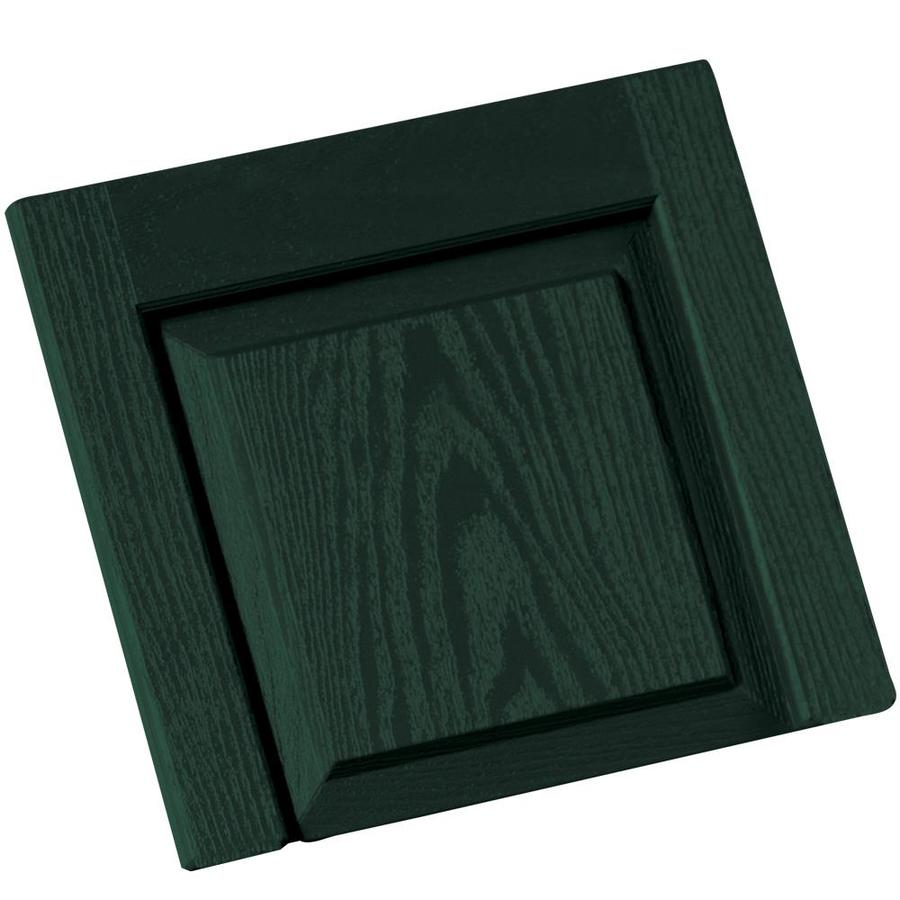 Vantage 2-Pack Midnight Green Vinyl Exterior Shutters (Common: 14-in x 13-in; Actual: 13.875-in x 13.0625-in)