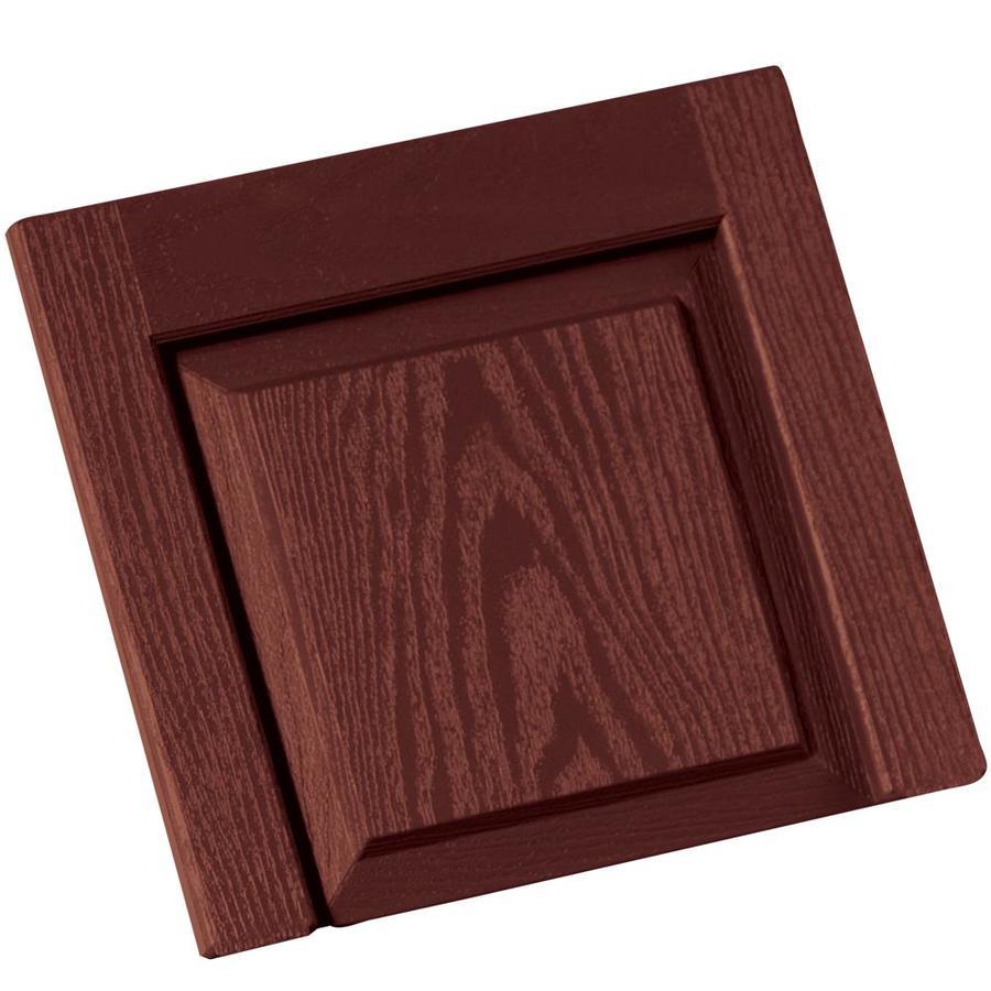 Vantage 2-Pack Cambridge Red Vinyl Exterior Shutters (Common: 14-in x 13-in; Actual: 13.875-in x 13.0625-in)