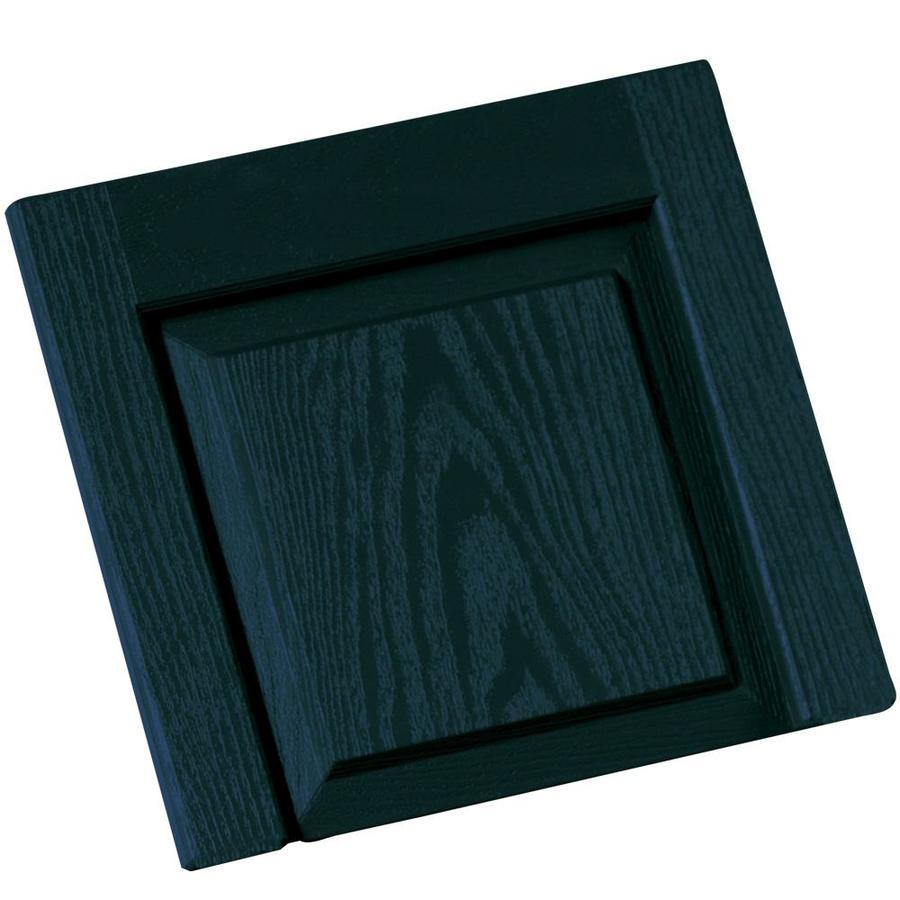 Vantage 2-Pack Indigo Blue Vinyl Exterior Shutters (Common: 14-in x 13-in; Actual: 13.875-in x 13.0625-in)