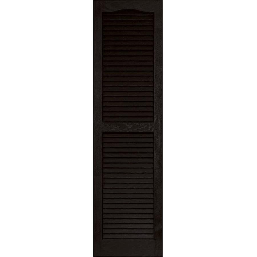 "Vantage 14"" x 51"" Black Louvered Vinyl Shutter"