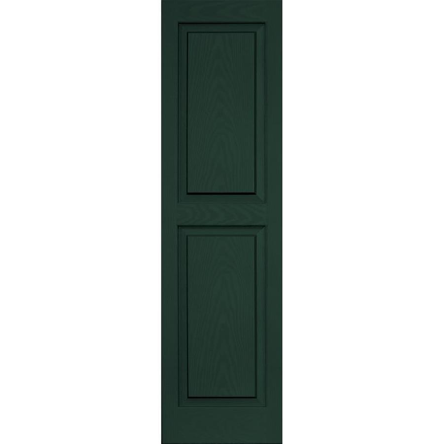 "Vantage 14"" x 51"" Mid-Night Green Raised Panel Vinyl Shutter"
