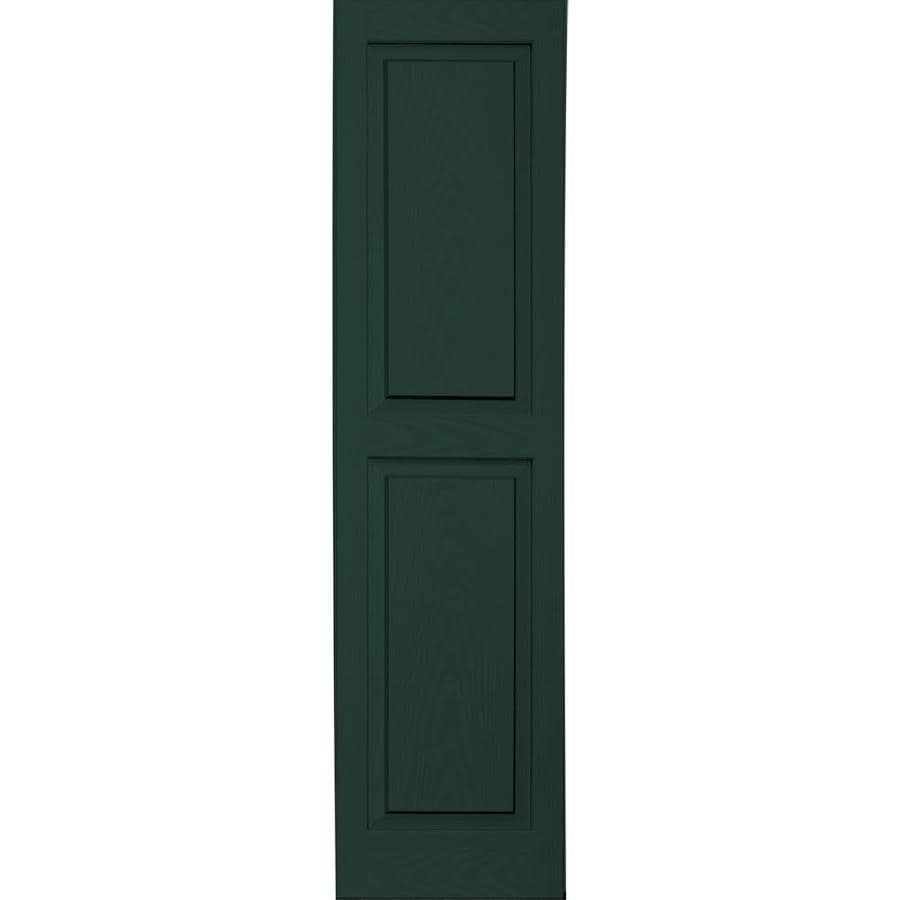 "Vantage 14"" x 55"" Mid-Night Green Raised Panel Vinyl Shutter"