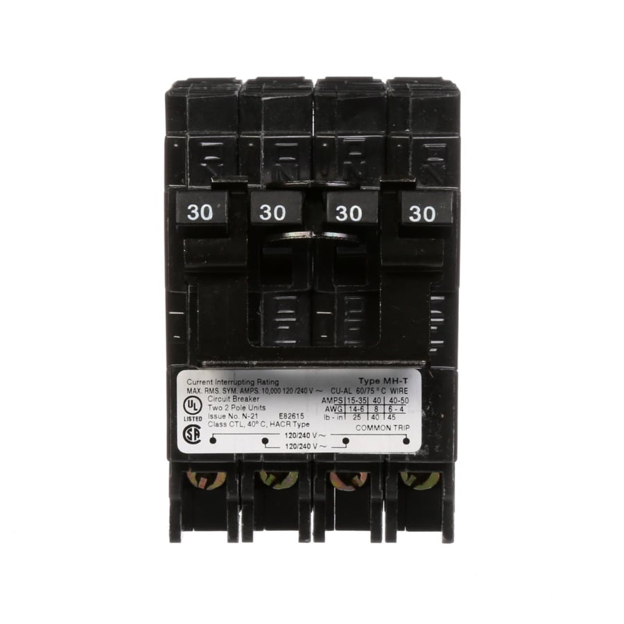 Shop Siemens Qp 30-Amp 2-Pole Quad Circuit Breaker at Lowes.com