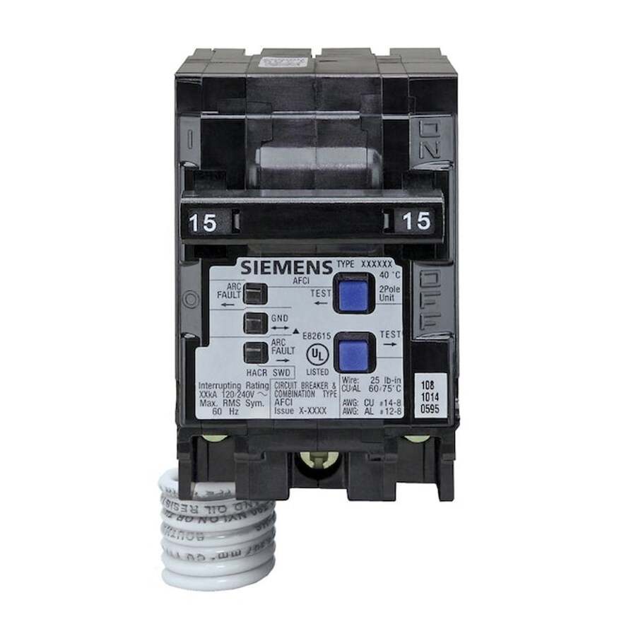 Siemens QP 15-Amp 2-Pole Combination Arc Fault Circuit Breaker