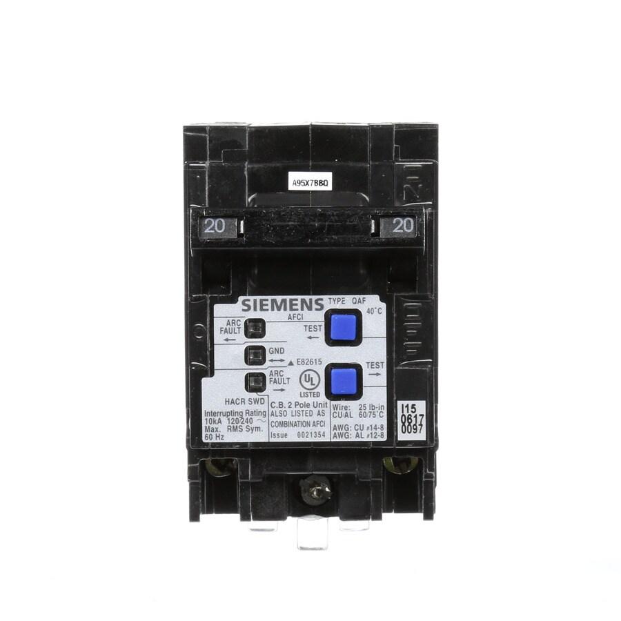 Siemens QP 20-Amp 2-Pole Combination Arc Fault Circuit Breaker