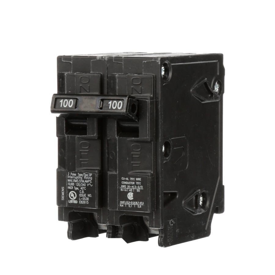 Siemens Qp 100-Amp 2-Pole Main Circuit Breaker