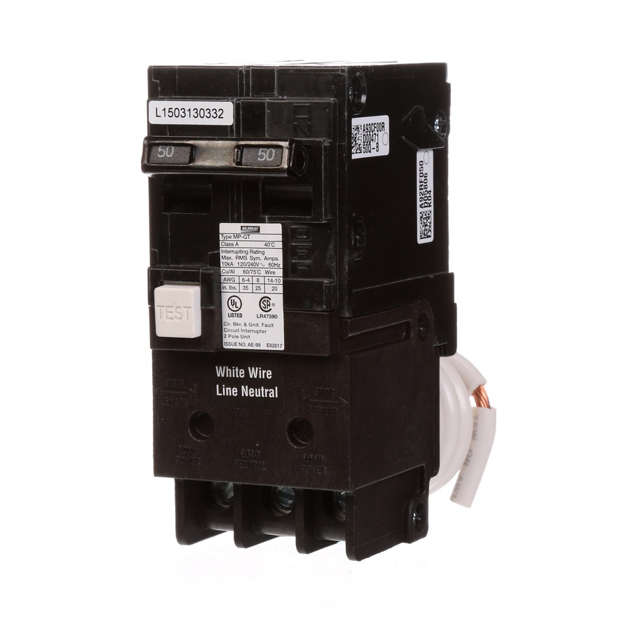 Murray Qp 50 Amp 2 Pole Gfci Circuit Breaker At Lowes Com