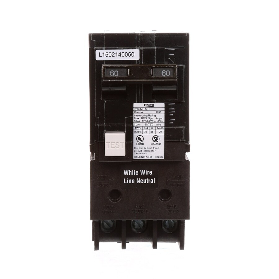 Murray MP 60 AMP 2-Pole Ground Fault Circuit Breaker