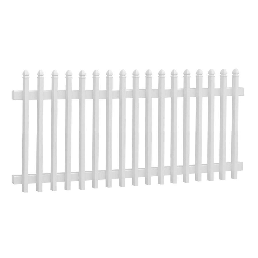 Gatehouse White Vinyl Fence Panel (Common: 3-ft x 8-ft; Actual: 3-ft x 7.68-ft)