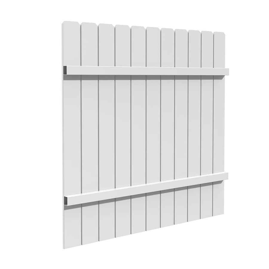 Shop fence panels at lowes freedom actual 583 ft x 568 ft white vinyl privacy panel baanklon Image collections