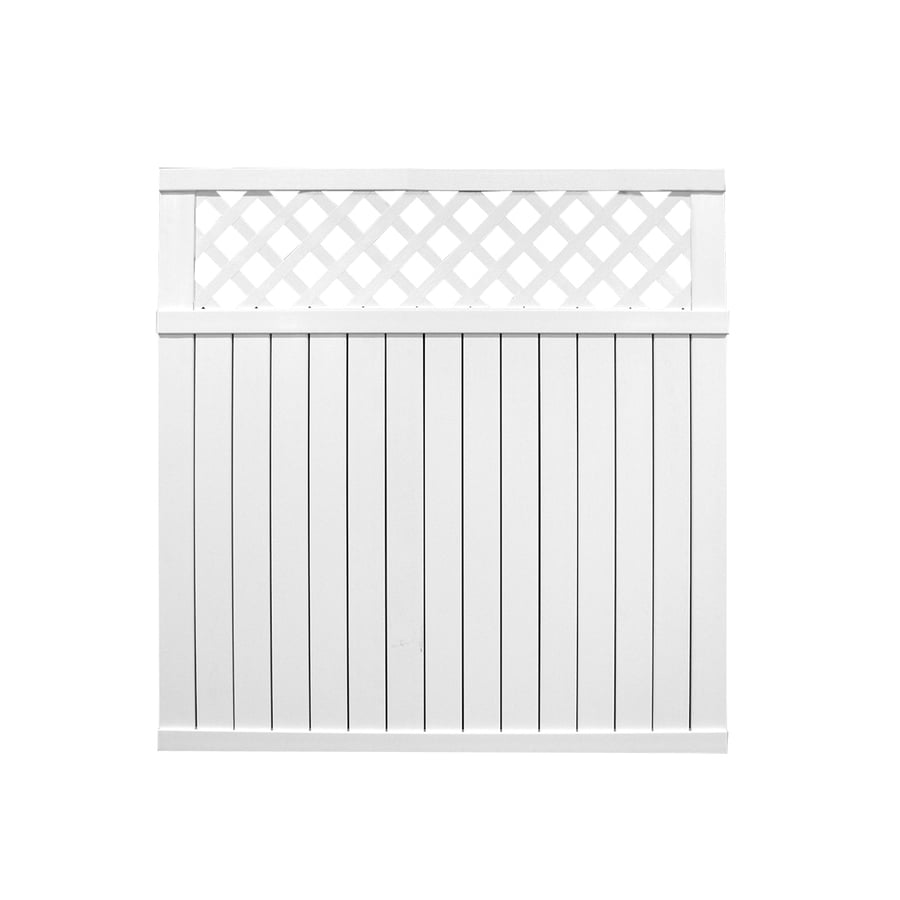 Barrette (Common: 6-ft x 6-ft; Actual: 5.83-ft x 5.64-ft) White Vinyl Privacy Fence Panel