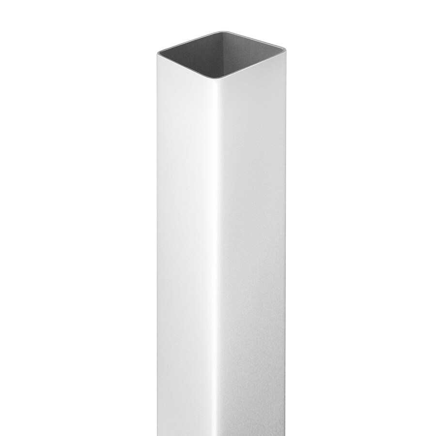 Barrette (Common: 4-3/4-in x 4-3/4-in x 8-ft; Actual: 4.75-in x 4.75-in x 8.16-ft) White Vinyl Blank Post