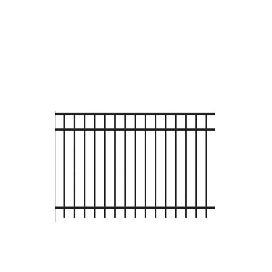 Freedom (Actual: 3.91-ft x 6.026-ft) Standard New Haven Black Aluminum Decorative Fence Panel