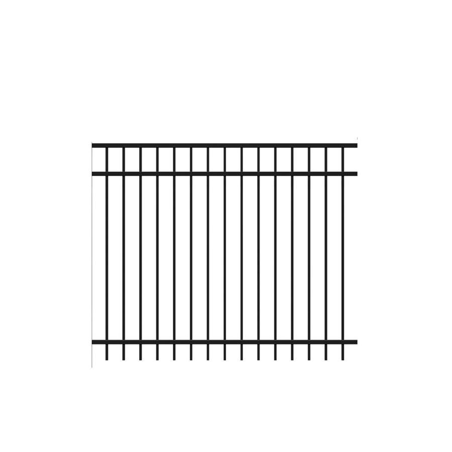 Freedom (Actual: 4.91-ft x 6.026-ft) Standard New Haven Black Aluminum Decorative Fence Panel
