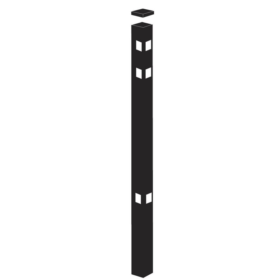 Freedom (Common: 2-in x 2-in x 7-1/2-ft; Actual: 2-in x 2-in x 7.33-ft) Standard Black Aluminum Corner Post