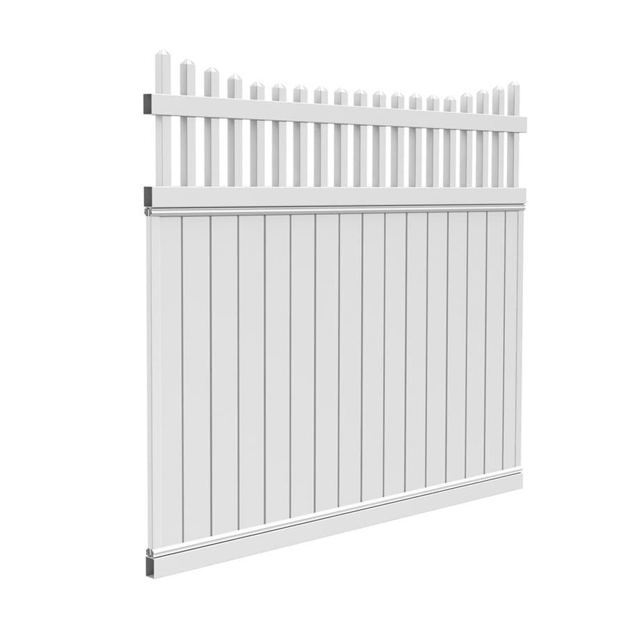 Shop Barrette Select White Scalloped Picket Vinyl Fence