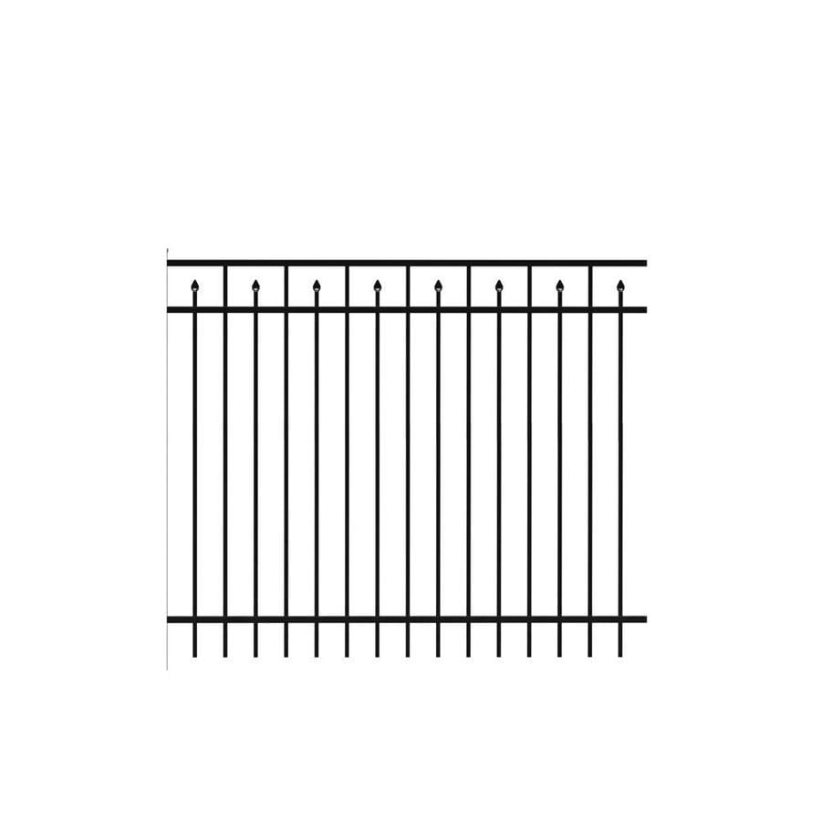 Freedom (Actual: 4.91-ft x 6.026-ft) Standard Concord Black Aluminum Decorative Fence Panel