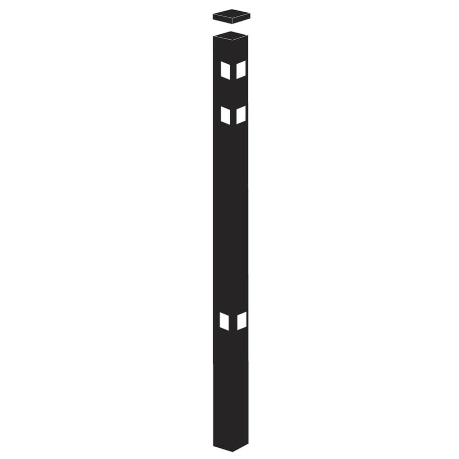 Freedom (Common: 2-in x 2-in x 7-ft; Actual: 2-in x 2-in x 6.83-ft) Standard Black Aluminum Corner Post