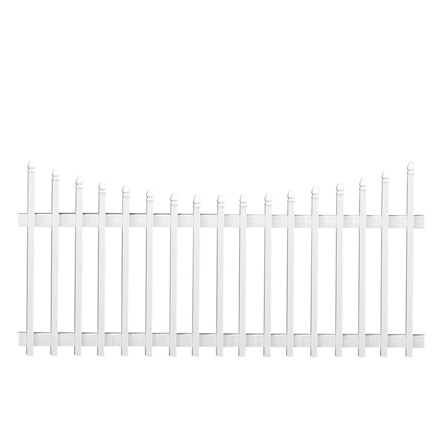 Freedom (Common: 4-ft x 8-ft; Actual: 3.5-ft x 7.68-ft) White Vinyl Fence Panel