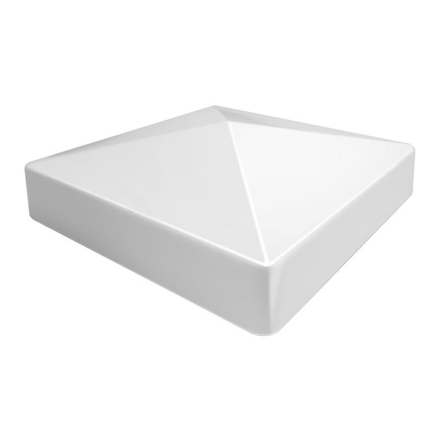 Freedom (Fits Common Post Measurement: 5-in; Actual: 5.17-in x 5.17-in) White Vinyl Post Cap