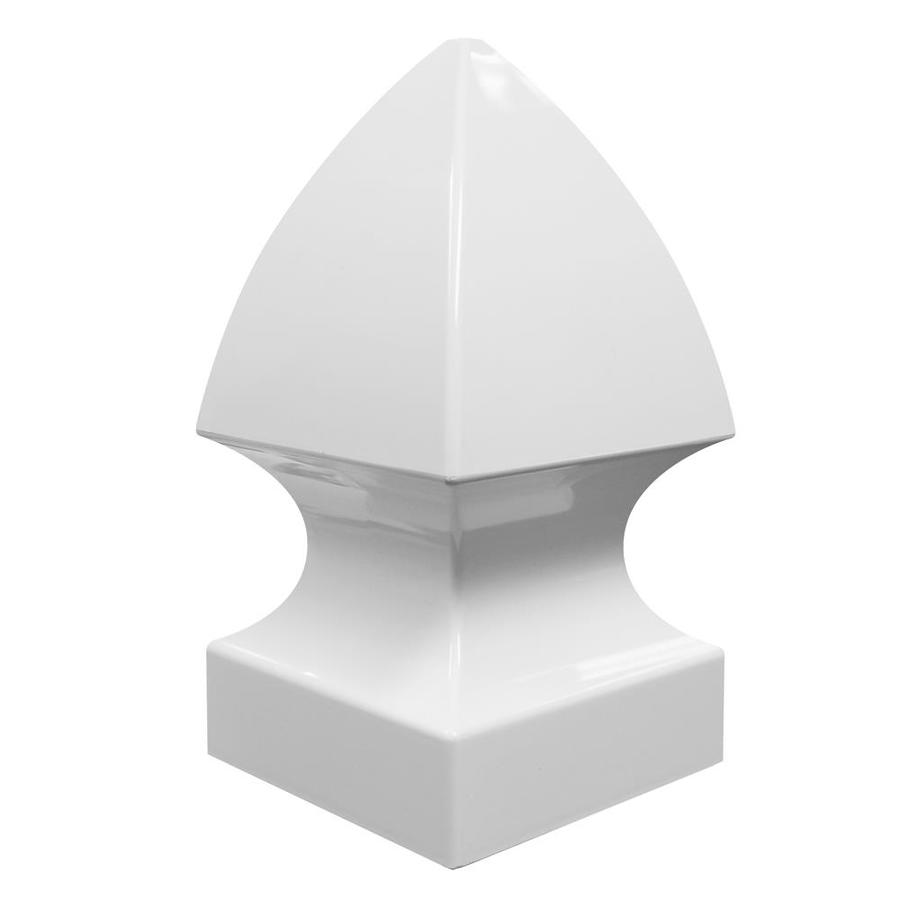 Freedom (Fits Common Post Measurement: 5-in; Actual: 5.25-in x 5.25-in) White Vinyl Post Cap