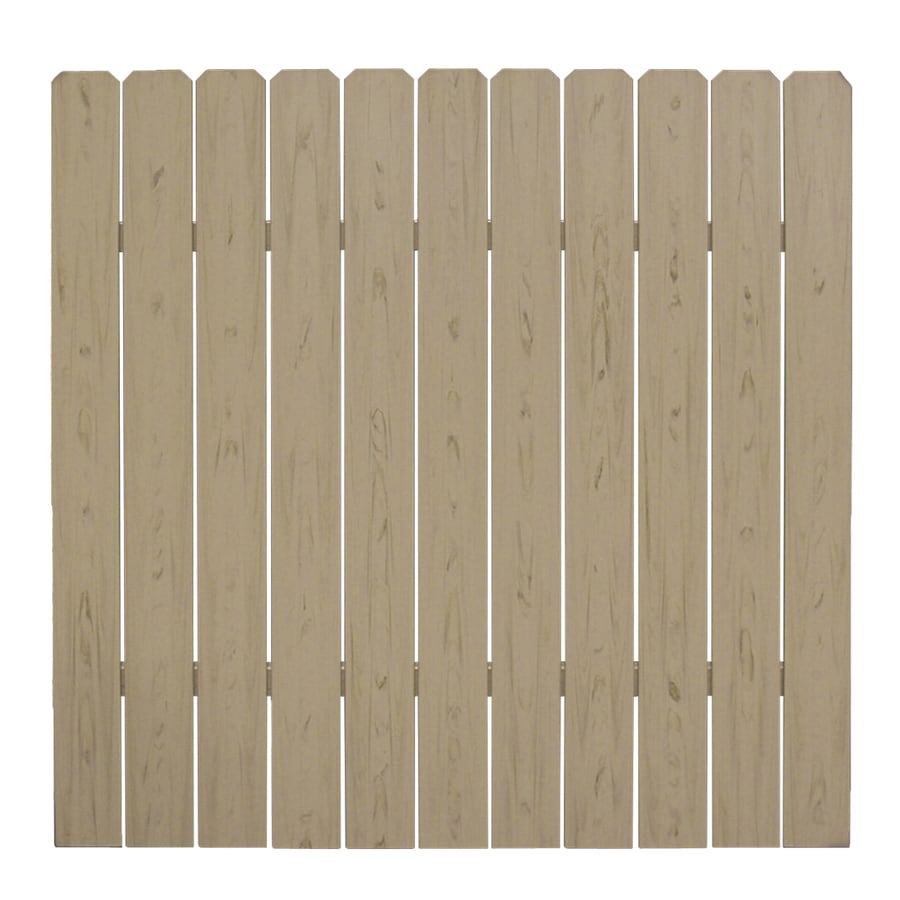 (Common: 6-ft x 6-ft; Actual: 5.83-ft x 5.6875-ft) All American Dogear Brown Vinyl Privacy Fence Panel