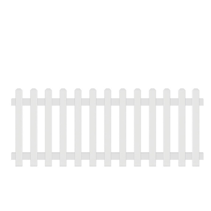 Barrette (Common: 6-ft x 8-ft; Actual: 3-ft x 7.68-ft) Gothic White Vinyl Fence Panel