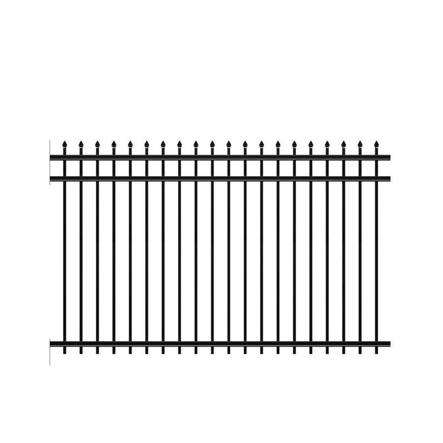 Freedom (Common: 5-ft x 8-ft; Actual: 4.89-ft x 7.89-ft) Heavy Duty Providence Black Aluminum Decorative Fence Panel