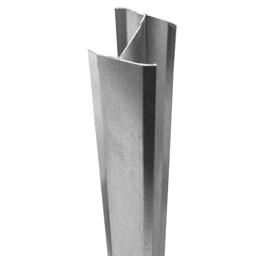 Freedom Silver Steel Vinyl Fence Post Cap (Fits Common Post Measurement: 5-in; Actual: 5-in x 5-in)