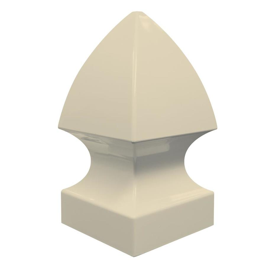 Freedom Sand Vinyl Fence Post Cap (Fits Common Post Measurement: 5-in; Actual: 5.25-in x 5.25-in)