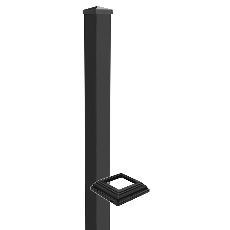 Barrette 3 x 3 x 42-1/2 Breadloaf/Flat Top Black Aluminum Stair Post Kit