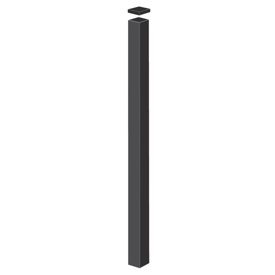 Freedom (Common: 2-1/2-in x 2-1/2-in x 9-ft; Actual: 2.5-in x 2.5-in x 8.83-ft) Pewter Aluminum Fence Blank Post