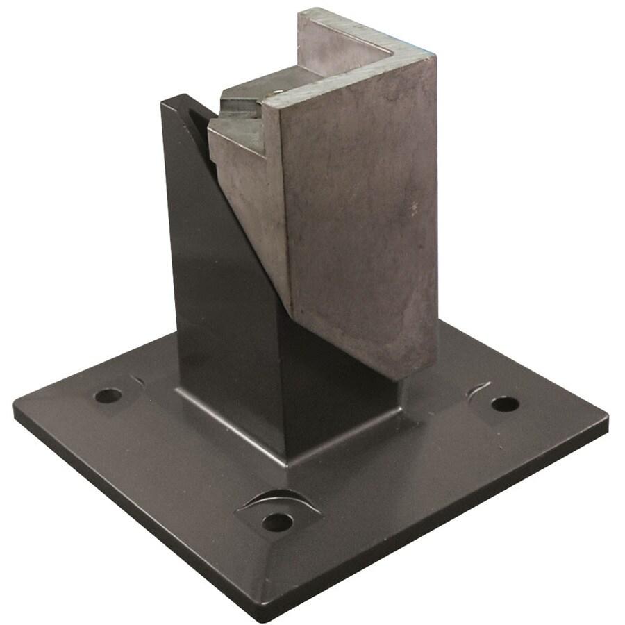 Freedom Heavy-Duty Pewter Aluminum Fence Surface Mount