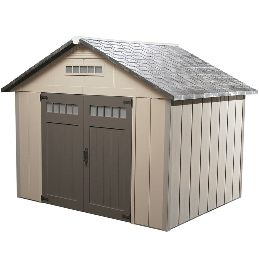 depot browns organization storage home garages double shed plastic n tans lifetime outdoor vinyl b the door sheds