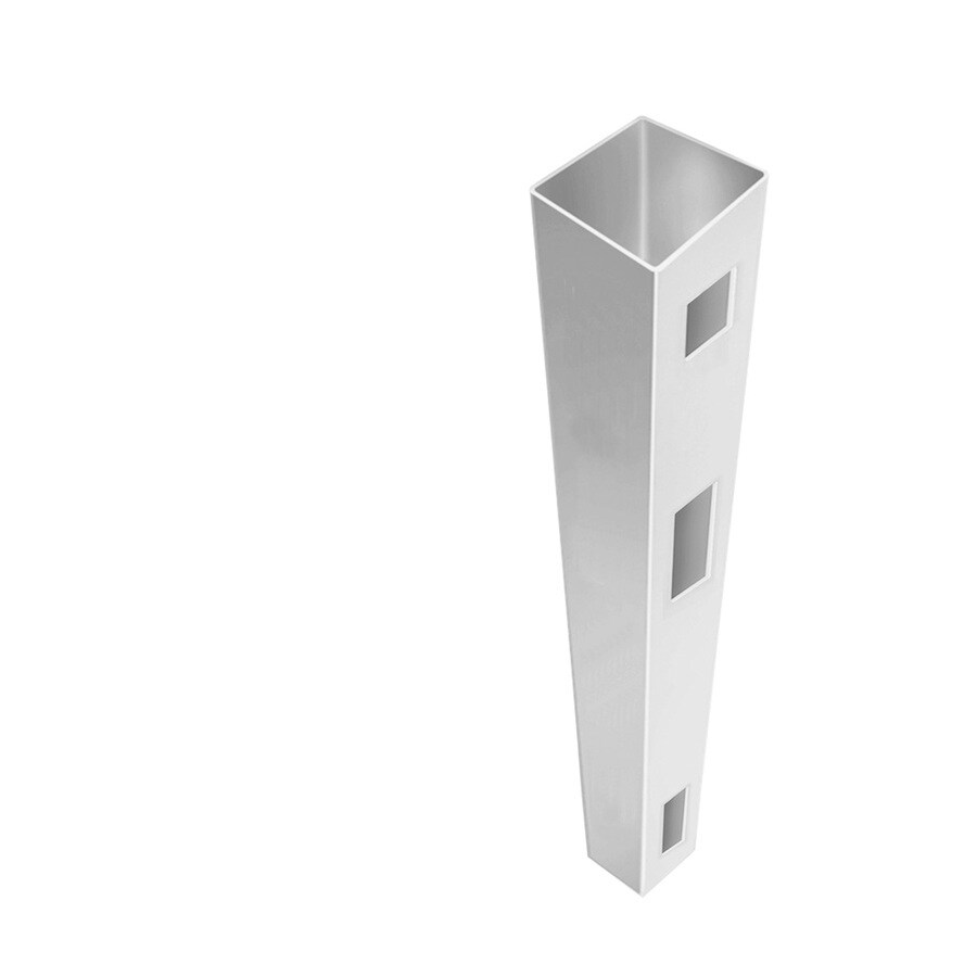 Freedom (Common: 5-in x 5-in x 9-ft; Actual: 5-in x 5-in x 9-ft) Ready-To-Assemble White Vinyl End Post