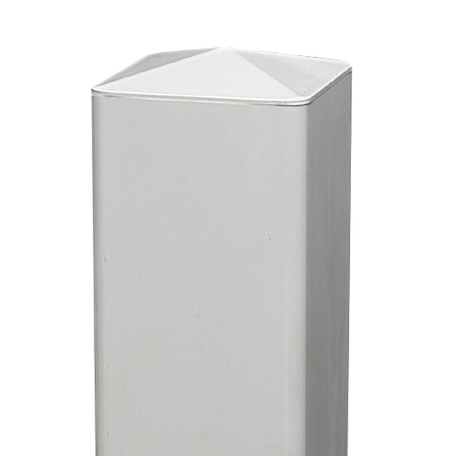 Freedom (Fits Common Post Measurement: 5-in; Actual: 4.875-in x 4.875-in) White Vinyl Post Cap