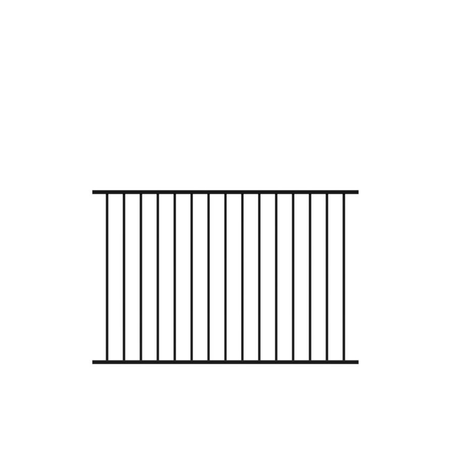 Freedom (Common: 4-ft x 6-ft; Actual: 4-ft x 6.02-ft) Standard Easton Black Aluminum Decorative Fence Panel