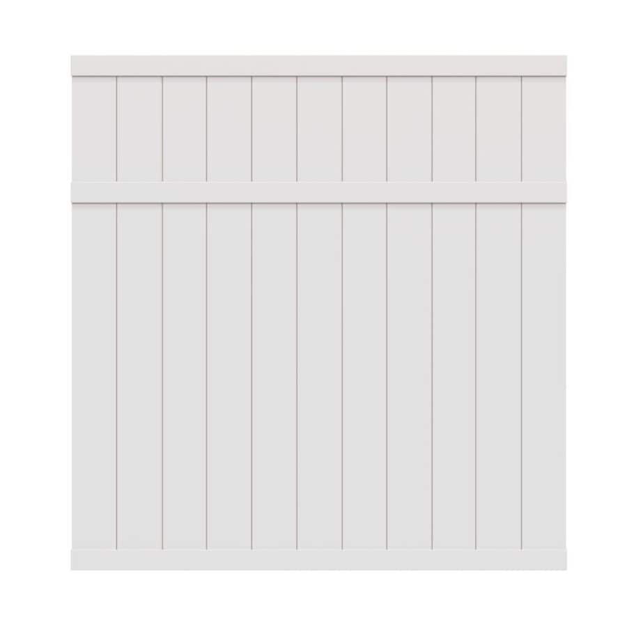 Freedom (Common: 6-ft x 6-ft; Actual: 5.66-ft x 5.45-ft) Pre-Assembled Brighton White Privacy Vinyl Fence Panel