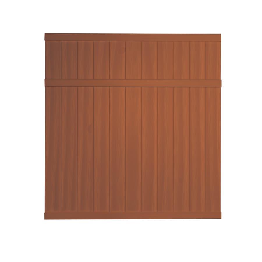 Barrette 6 X 6 Woodgrain Cedar Flat Top Privacy Vinyl