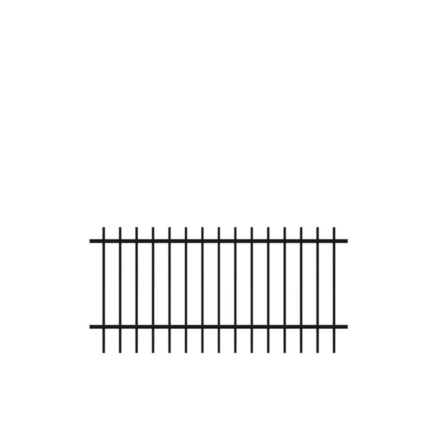 Freedom (Actual: 2.59-ft x 6.02-ft) Standard Hudson Black Aluminum Decorative Fence Panel