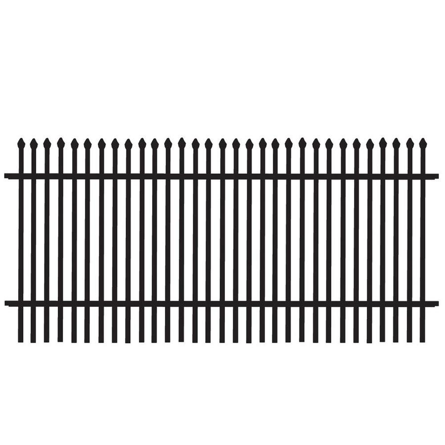 Freedom Standard Oxford Black Aluminum Decorative Fence Panel (Common: 3-ft x 6-ft; Actual: 2.83-ft x 6.02-ft)